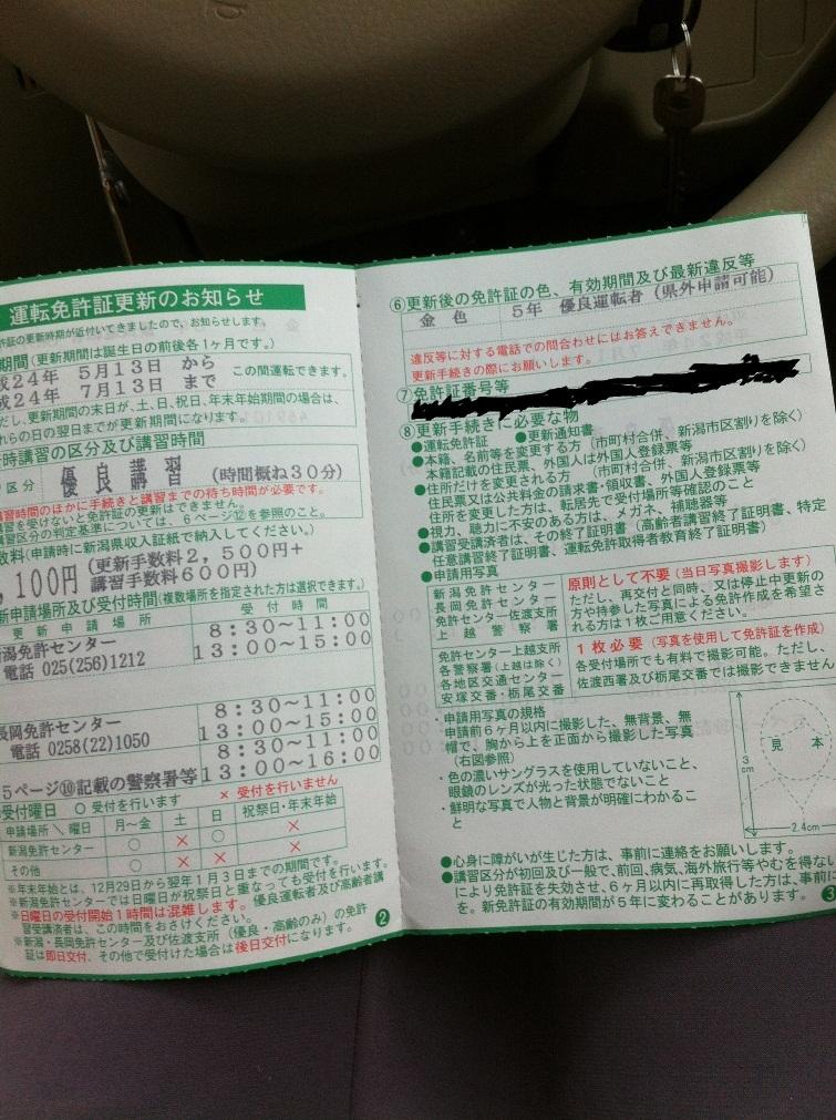 証 期間 免許 更新